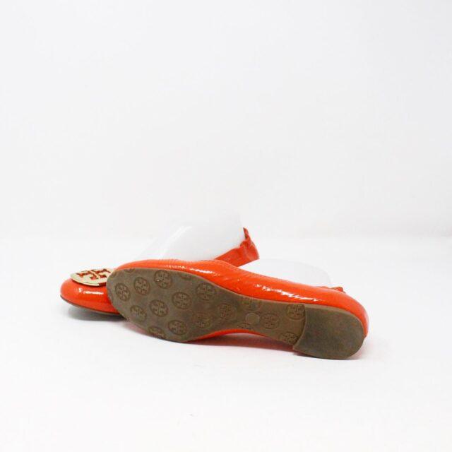 TORY BURCH 30658 Orange Patent Leather Reva Flats US 8 EU 38 4