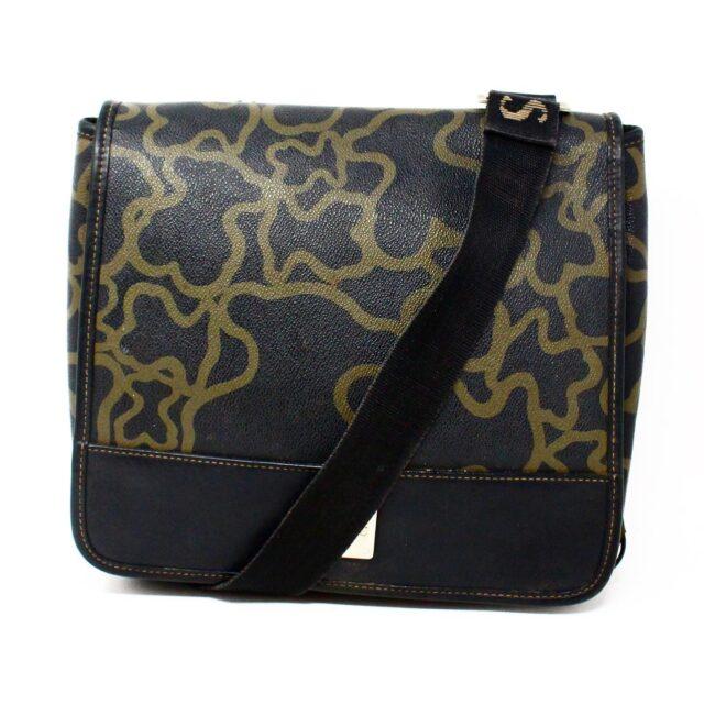 TOUS 30077 Black Gold Canvas Messenger Bag 1