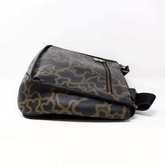 TOUS 30077 Black Gold Canvas Messenger Bag 2