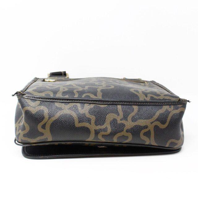 TOUS 30077 Black Gold Canvas Messenger Bag 3