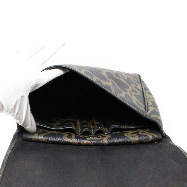 TOUS 30077 Black Gold Canvas Messenger Bag 4