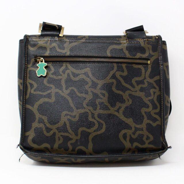 TOUS 30077 Black Gold Canvas Messenger Bag 5