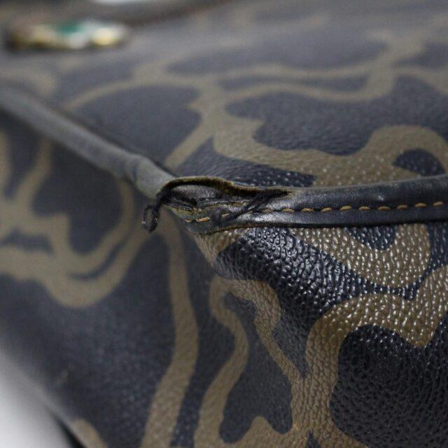 TOUS 30077 Black Gold Canvas Messenger Bag 6