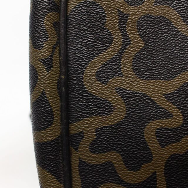 TOUS 30077 Black Gold Canvas Messenger Bag 8