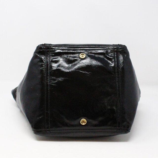 YVES SAINT LAURENT 30672 Black Patent Leather Satchel 3