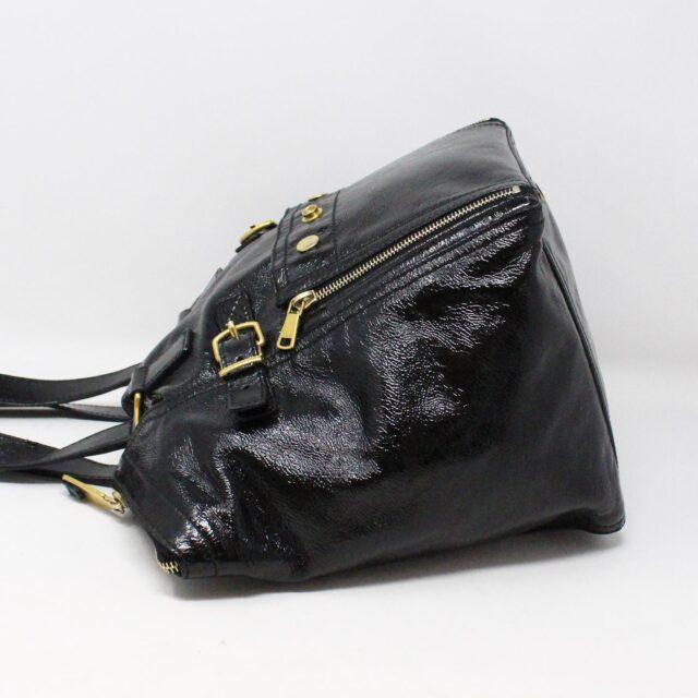 YVES SAINT LAURENT 30672 Black Patent Leather Satchel 4