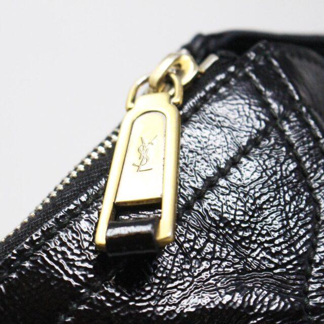YVES SAINT LAURENT 30672 Black Patent Leather Satchel 7