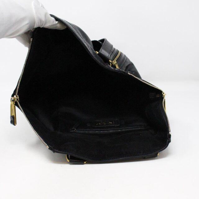 YVES SAINT LAURENT 30672 Black Patent Leather Satchel 8