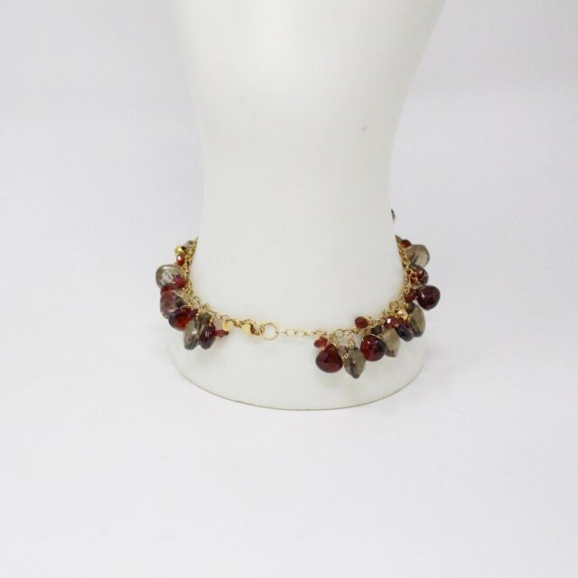 31039 Smoky Quartz Garnet Multi Shaped Bead Bracelet Earrings 5