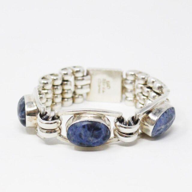 31162 .925 Sterling Silver Lapis Lazuli Gemstone Bracelet 1