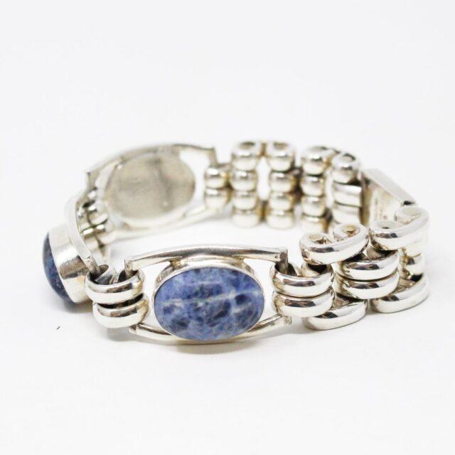 31162 .925 Sterling Silver Lapis Lazuli Gemstone Bracelet 2