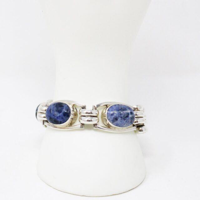 31162 .925 Sterling Silver Lapis Lazuli Gemstone Bracelet 6