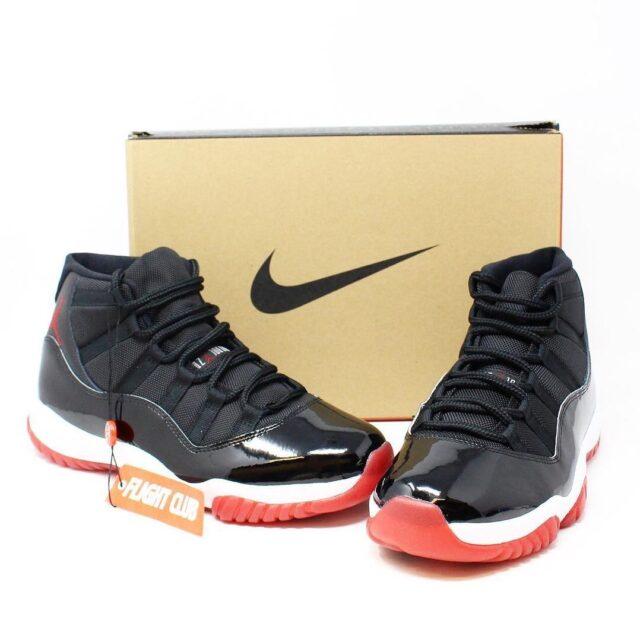 AIR JORDAN RETRO 11 28517 Black and White Sneakers US 9.5 EU 39.5 1