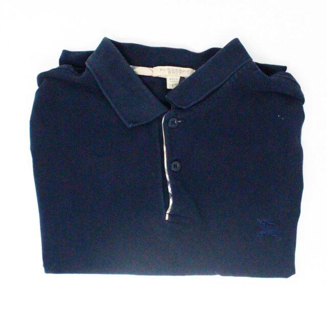 BURBERRY 29445 Men´s Brit Navy Blue Polo Shirt 1