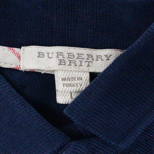 BURBERRY 29445 Men´s Brit Navy Blue Polo Shirt 3