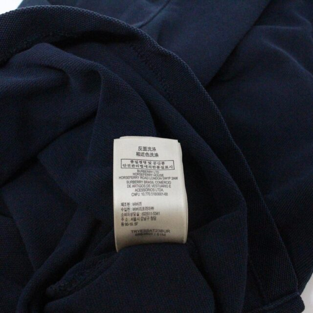 BURBERRY 29445 Men´s Brit Navy Blue Polo Shirt 5