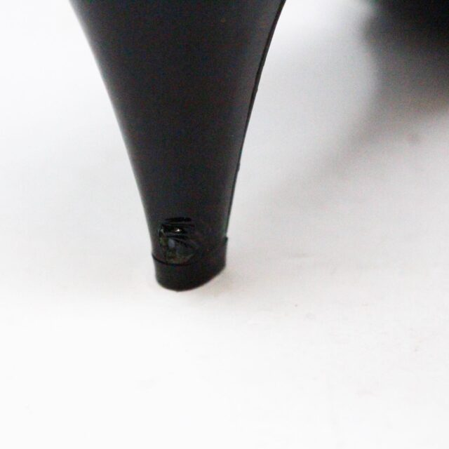 COACH 30849 Black Canvas Bow Kitten Heel US 9.5 EU 39.5 4