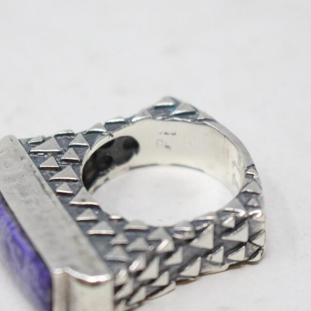 DIAN MALOUF 30866 Sterling Silver Purple Agate Ring Size 7.5 4