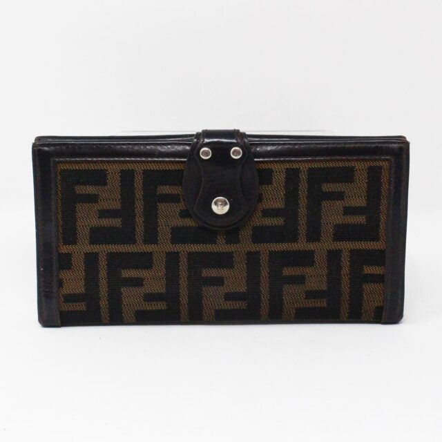 FENDI 31139 Brown Zucca Wallet 1