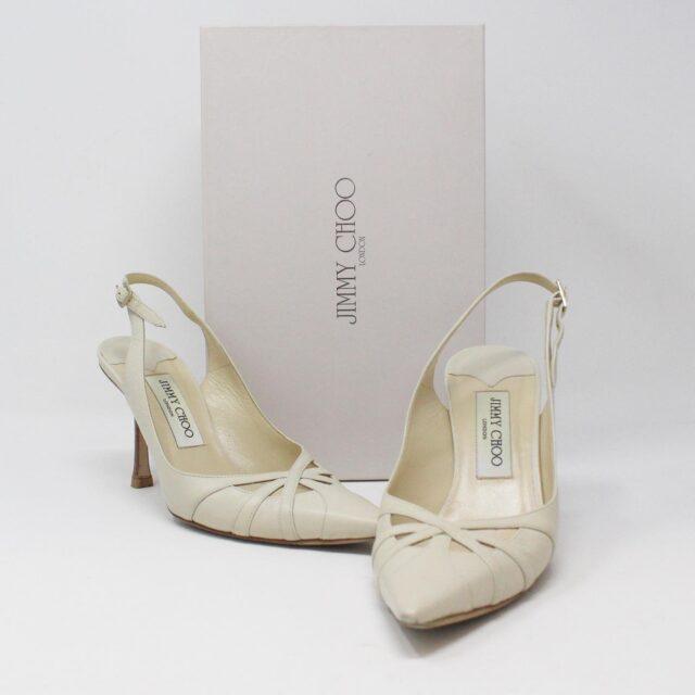 JIMMY CHOO 31185 Pearlized Patent Leather Heels US 7 EU 37 1