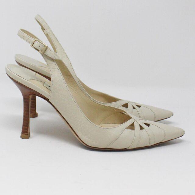 JIMMY CHOO 31185 Pearlized Patent Leather Heels US 7 EU 37 2