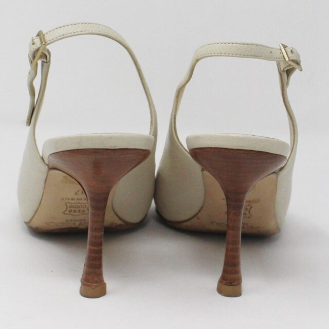 JIMMY CHOO 31185 Pearlized Patent Leather Heels US 7 EU 37 3
