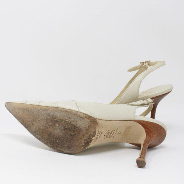 JIMMY CHOO 31185 Pearlized Patent Leather Heels US 7 EU 37 4