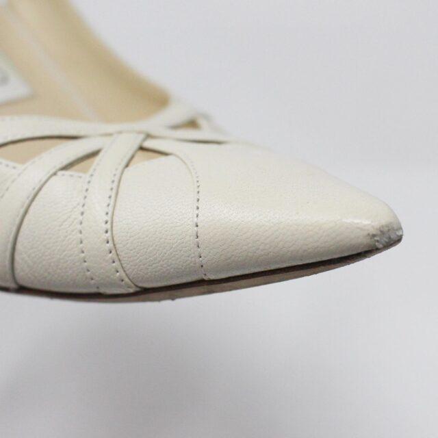 JIMMY CHOO 31185 Pearlized Patent Leather Heels US 7 EU 37 5