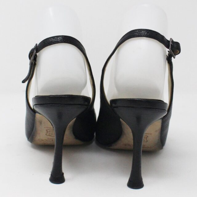 JIMMY CHOO 31188 Grainy Goat Leather Black Heels US 7 EU 37 3