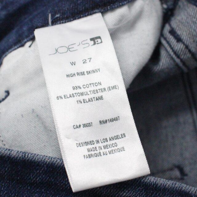 JOES 31086 Dark Blue High Waisted Skinny Jeans Size 27 7
