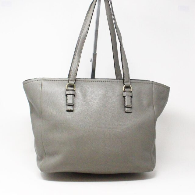 KATE SPADE 30978 Grey Leather Tote 2