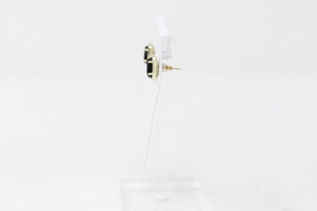 KENDRA SCOTT 30981 Ellie Black Opaque Glass Gold Stud Earrings 2