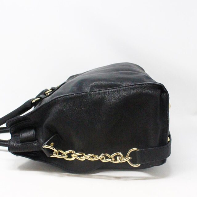 MICHAEL KORS 30935 Black Leather Lock Tote 3