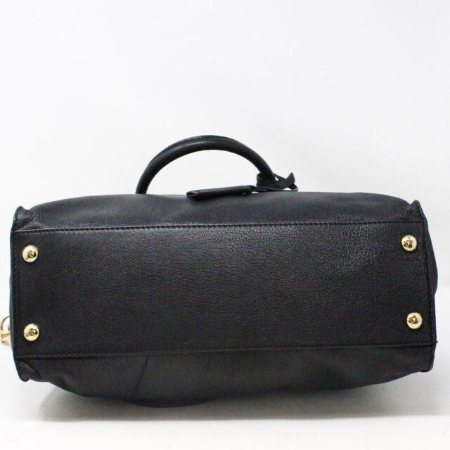 MICHAEL KORS 30935 Black Leather Lock Tote 4