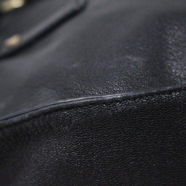 MICHAEL KORS 30935 Black Leather Lock Tote 8