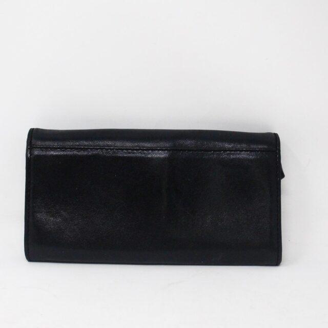 MICHAEL KORS 30936 Black Leather Logo Plaque Wallet 2