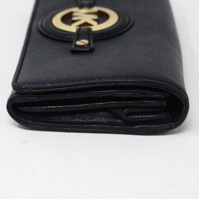 MICHAEL KORS 30936 Black Leather Logo Plaque Wallet 4