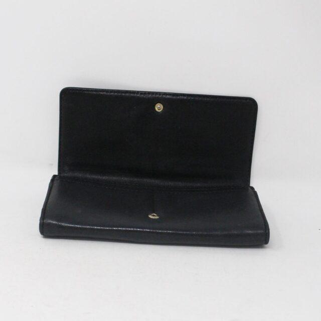 MICHAEL KORS 30936 Black Leather Logo Plaque Wallet 5