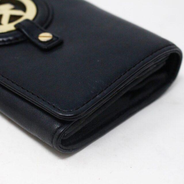 MICHAEL KORS 30936 Black Leather Logo Plaque Wallet 6