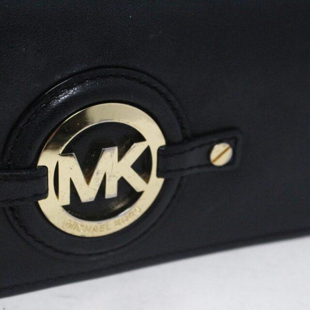 MICHAEL KORS 30936 Black Leather Logo Plaque Wallet 8