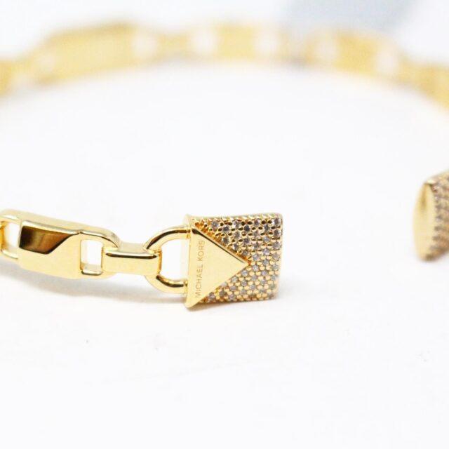 MICHAEL KORS 30956 Gold Tone Stainless Steel Bracelet NWT 3