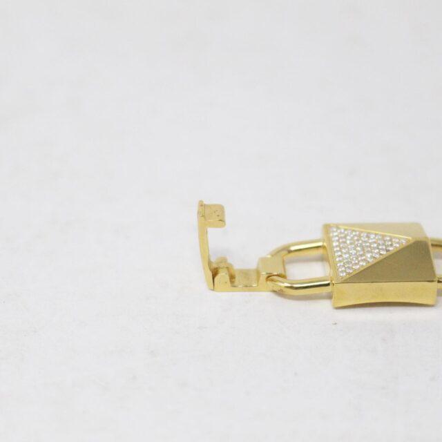MICHAEL KORS 30962 Gold Tone Lock Stainless Steel Bracelet NWT 4