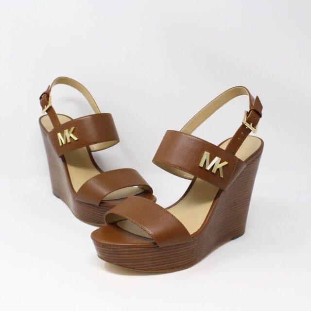 MICHAEL KORS 31149 Brown Leather Wedges US 11 EU 41 1