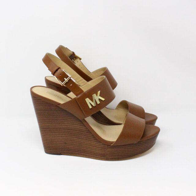 MICHAEL KORS 31149 Brown Leather Wedges US 11 EU 41 2