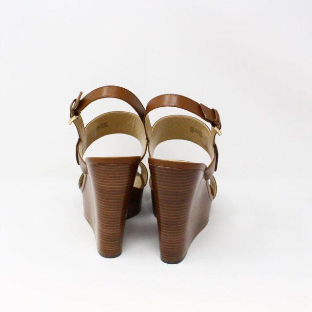MICHAEL KORS 31149 Brown Leather Wedges US 11 EU 41 3
