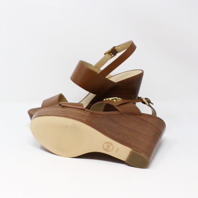 MICHAEL KORS 31149 Brown Leather Wedges US 11 EU 41 4