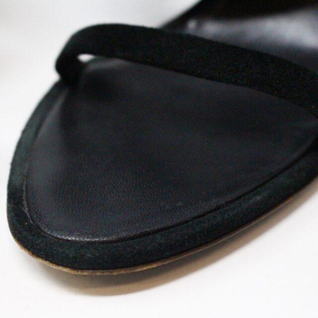 OSCAR DE LA RENTA 29289 Black Suede Heels US 7.5 EU 37.5 10