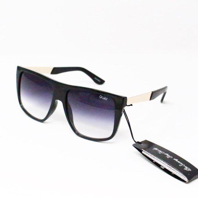 QUAY AUSTRALIA 27726 Black Incognito Rectangular Sunglasses NWT 1