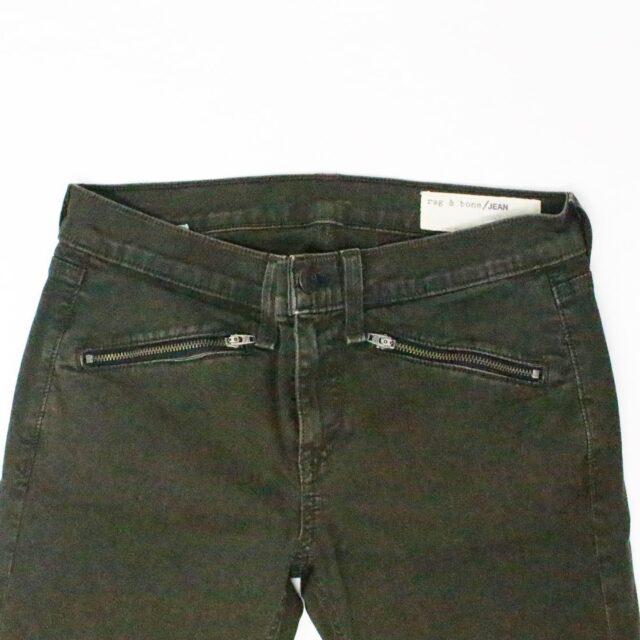 RAG BONE 31085 Olive Green Skinny Jeans Size 26 3