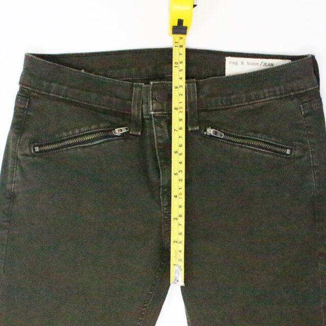 RAG BONE 31085 Olive Green Skinny Jeans Size 26 5